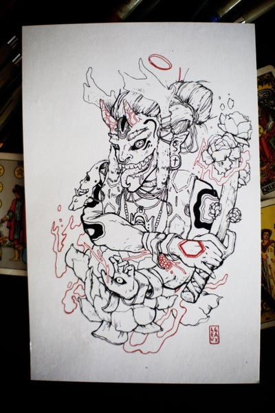 Image of lotus oni rez high gloss photo print