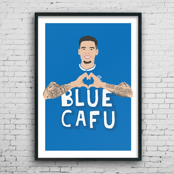 Image of Blue Cafu print