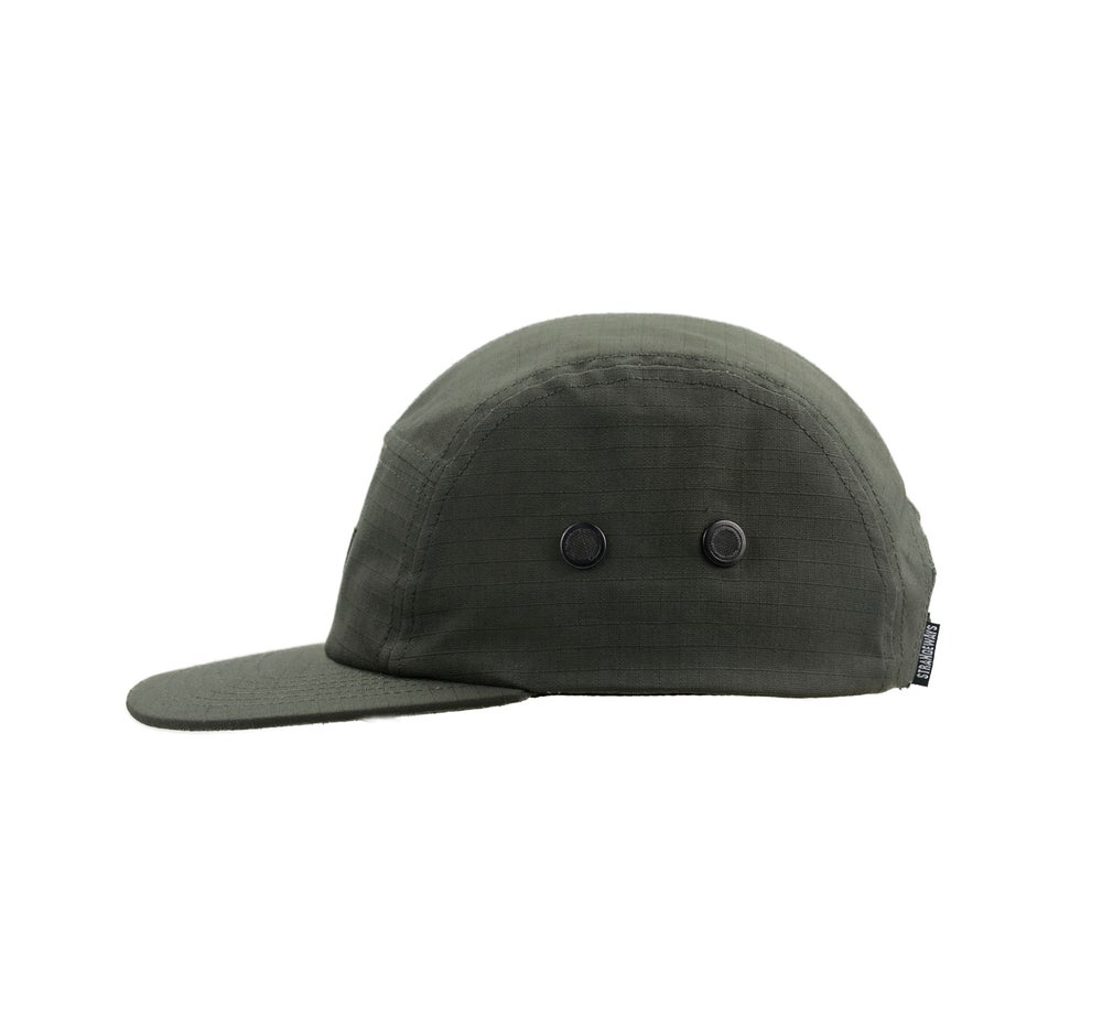 Image of Strangeways Tonal Five Panel Cap - Olive