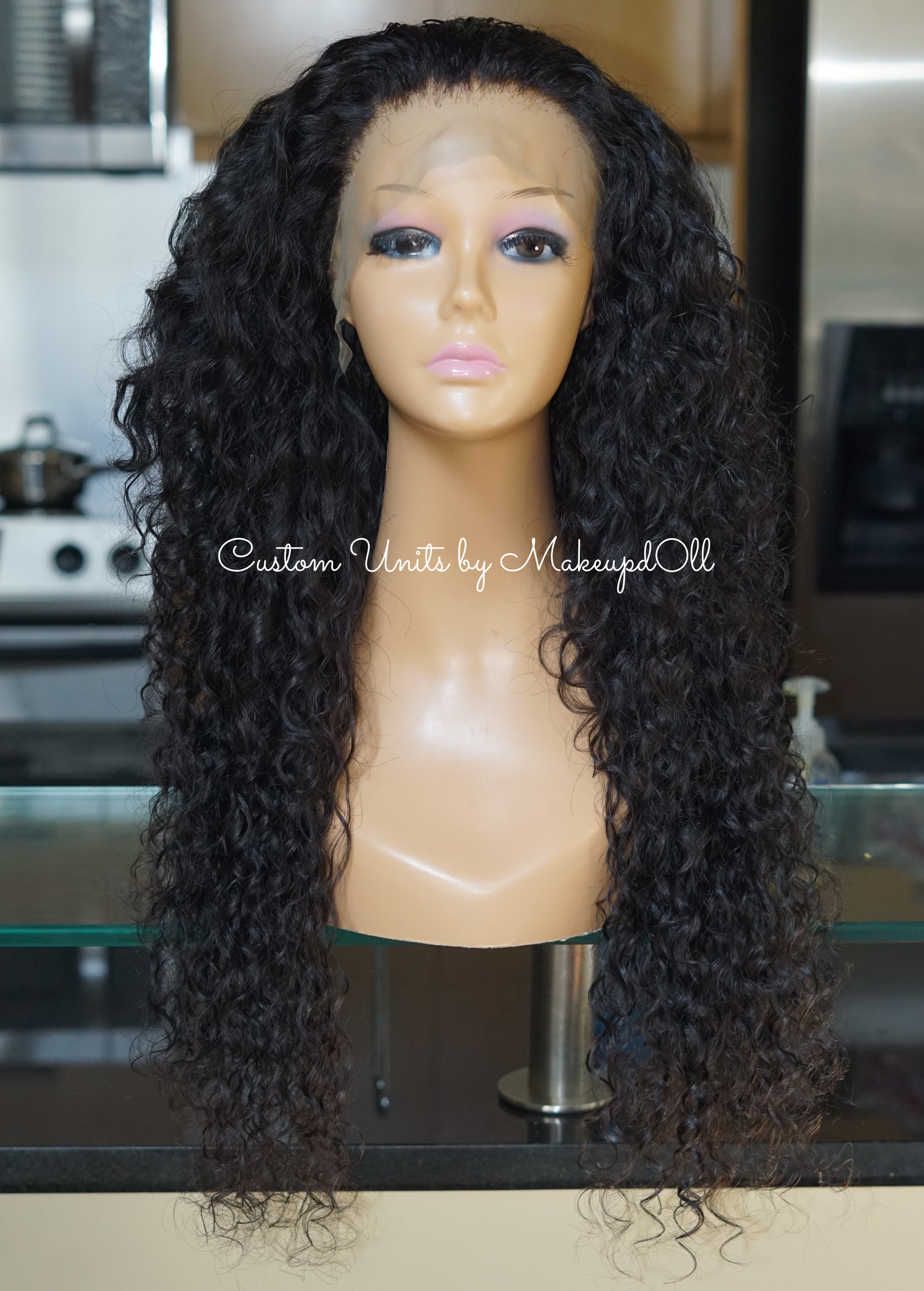 "Image of Cambodian Natural Wave 24"" Custom Frontal Wig!"