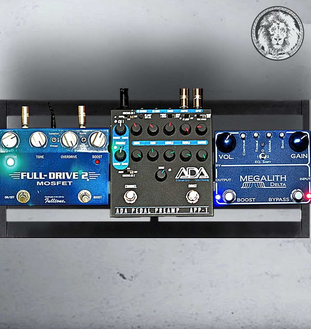 Image of 3 in 1 - Megalith Delta Pedal,ADA APP-1 D-Torsion Core Preamp and Fulltone Full-Drive 2 Mosfet OD