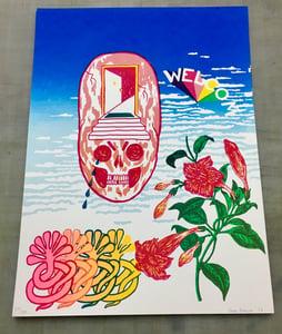 Image of WELCOM print by Brad Rohloff