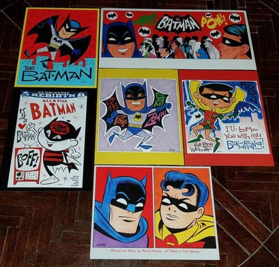 Image of BATMAN 6-PIECE PRINT SET - FREE SHIPPING! Use the code ZOWIE at Checkout for discount