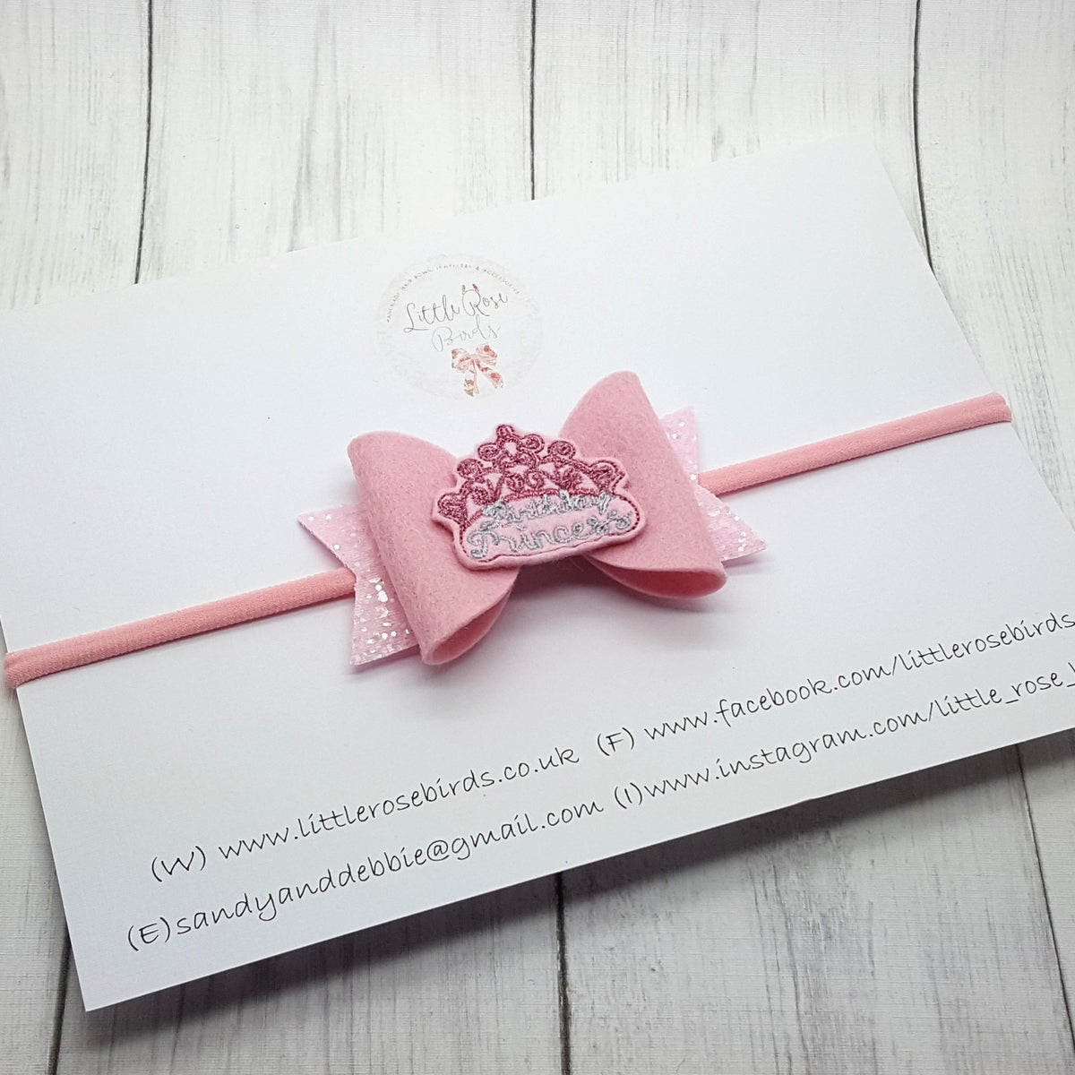 Image of Birthday Princess Bow 3.5""