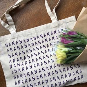 Image of NANA screenprinted canvas shopper tote bag