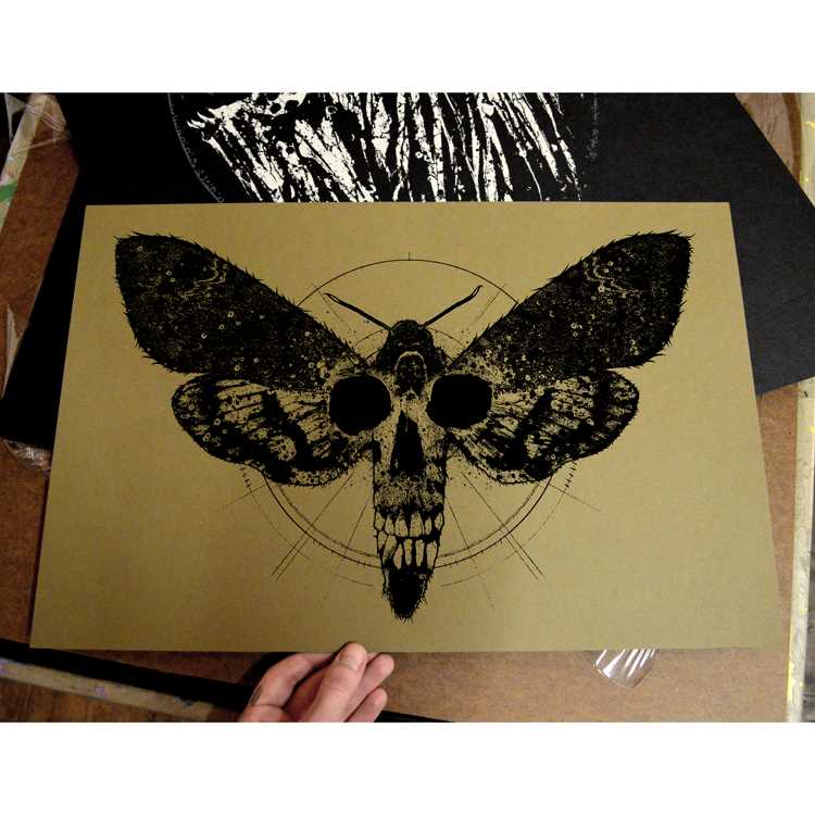"Image of ""Death's Head"" screen print"