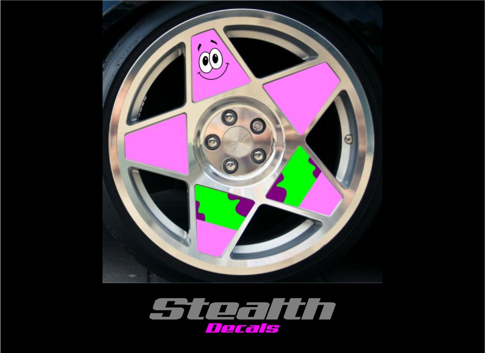 Image of 3SDM 0.05 Patrick Starfish Wheel inserts stickers 18""