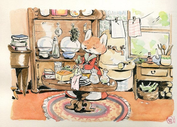 Image of Mr Fox cooking