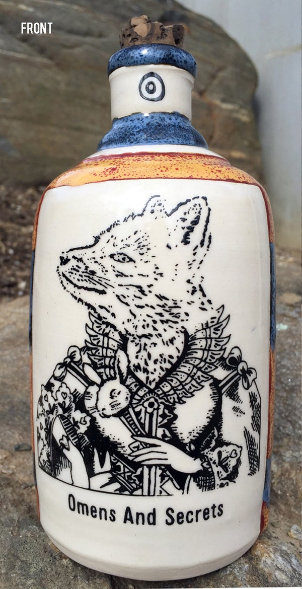Image of Ceramic Bottle 26 - Omens & Secrets