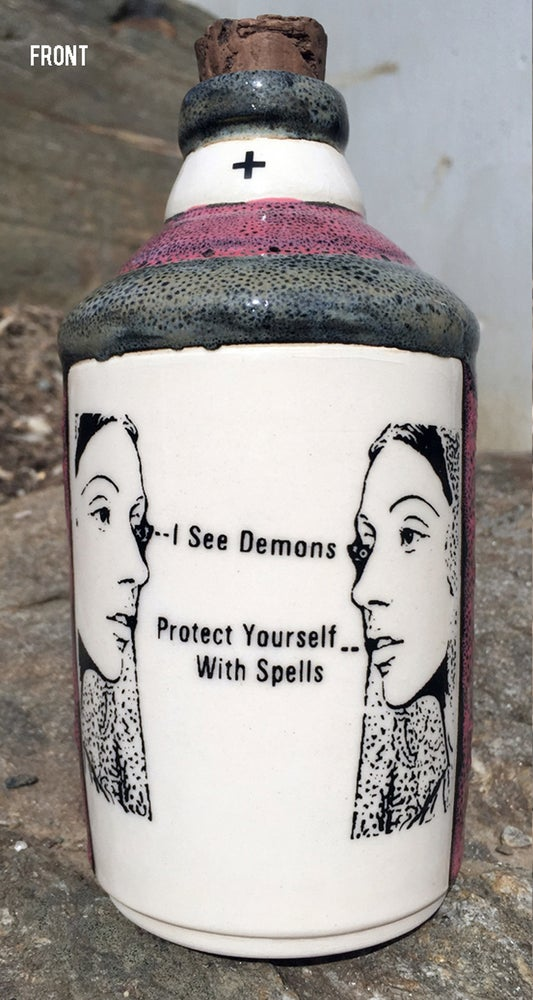 Image of Ceramic Bottle 23 - Protect Yourself