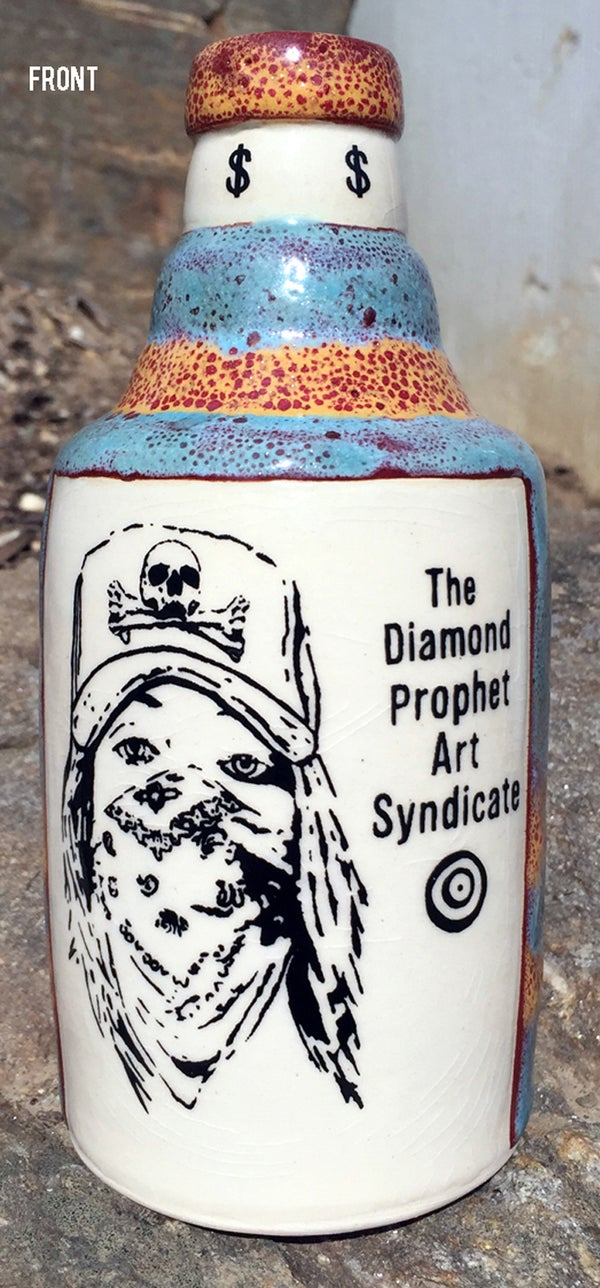 Image of Ceramic Bottle 22 - Diamond Prophet