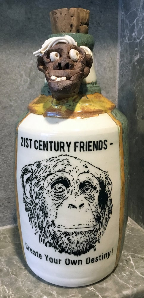 Image of Ceramic Bottle 19 - Message for my Friends