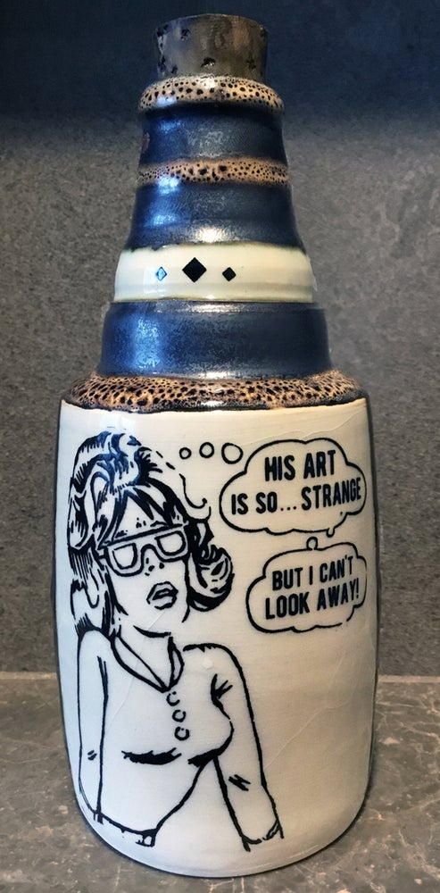Image of Ceramic Bottle 15 - Strange Art