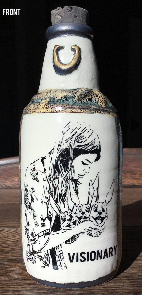 Image of Ceramic Bottle 8 - World Famous Visionary