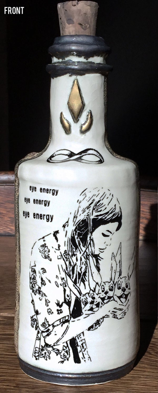 Image of Ceramic Bottle 6 - Eye Energy Queen