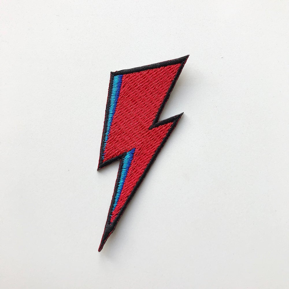 Image of Bowie Flash embroidered patch