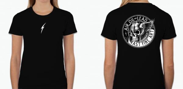 Image of Womans Basic Black T-shirt