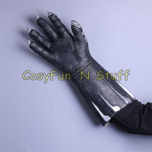 Image of Black Panther Gloves - 2018 Movie Cosplay Costume Prop Handmade Gloves