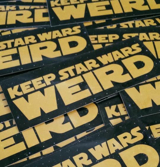Image of Keep Star Wars Weird Sticker