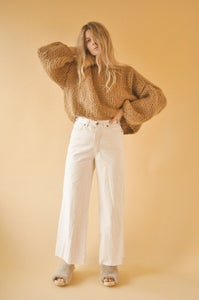 Image of WOOL CROPPED SWEATER-JANUARY PRE-SALE