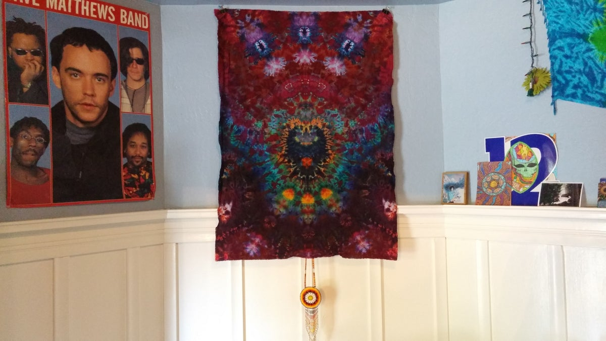 Vertical Ice Tie Dye Tapestry!