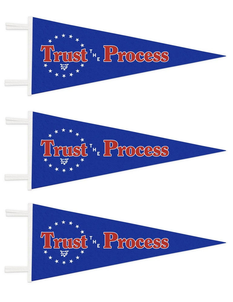Image of Trust The Process Basketball Pennant