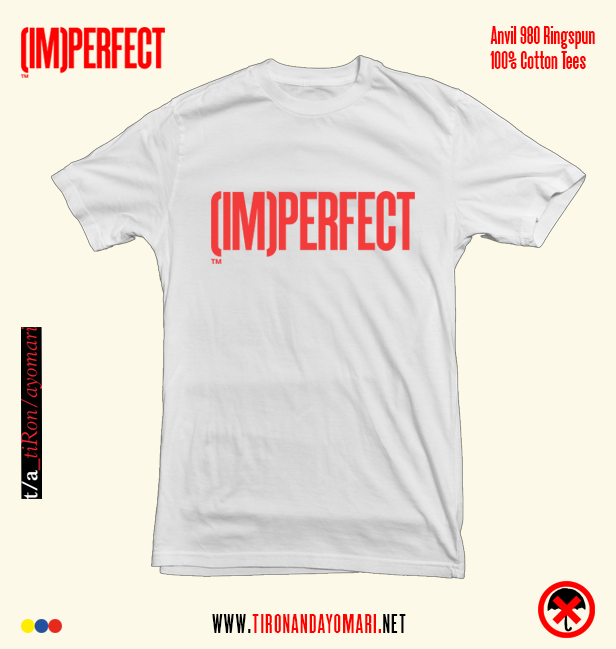 Image of (IM)PERFECT Tee (White) w/ Free WET Album ***PRE-SALE***