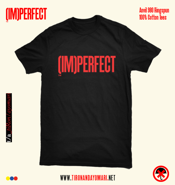 Image of (IM)PERFECT Tee (Black) w/ Free WET Album ***PRE-SALE***