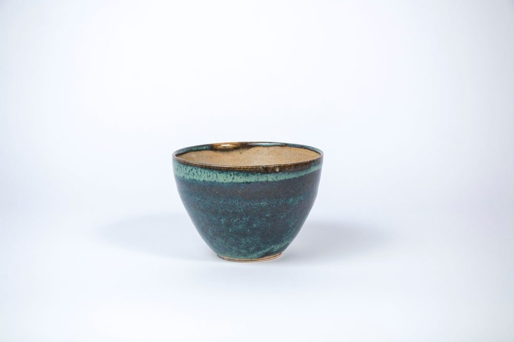 Image of jade u/ tan med. bowl