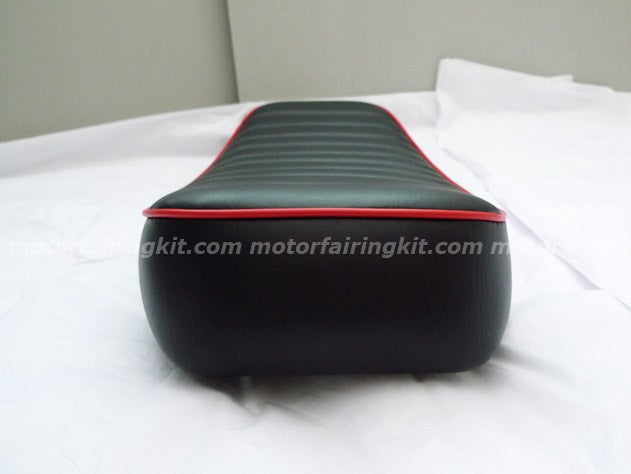 Image of Honda CG125 Flat Seat - Red Trim