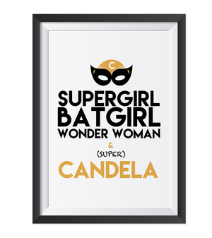 Image of Lámina Superboy /Supergirl Personalizada
