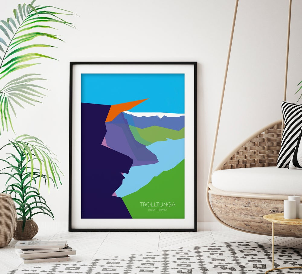 Image of Trolltunga, Norway -  art poster