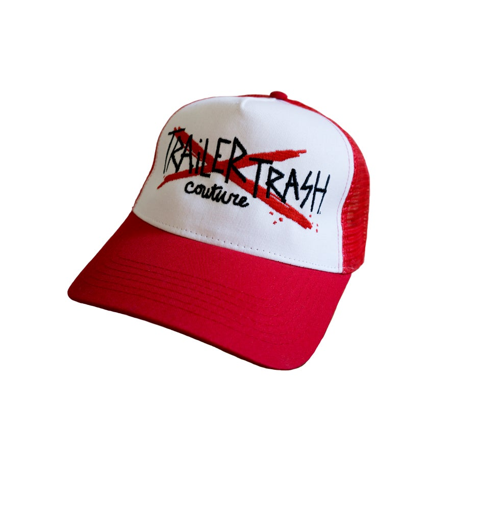 Image of Trailer Trash Couture trucker caps.