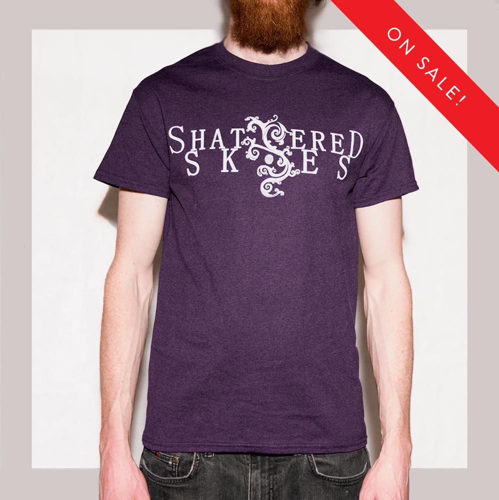 Image of Shattered Skies Logo T-Shirt (Blackberry)