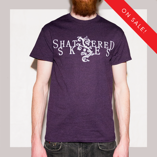 Image of Shattered Skies Logo T-Shirt (Blackberry)