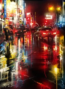 Image of 'Tokyo Lights' - Original painting on canvas