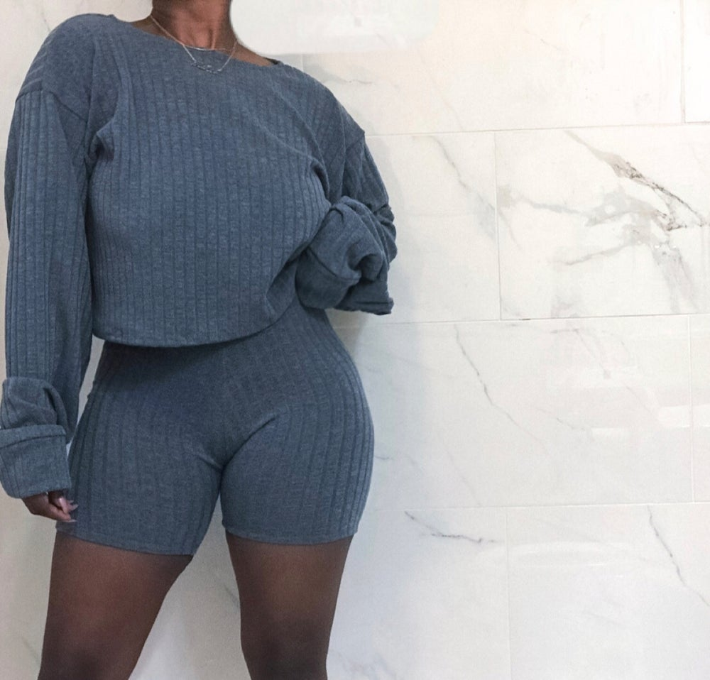 Image of Basic Knit Sweater Lounge Set