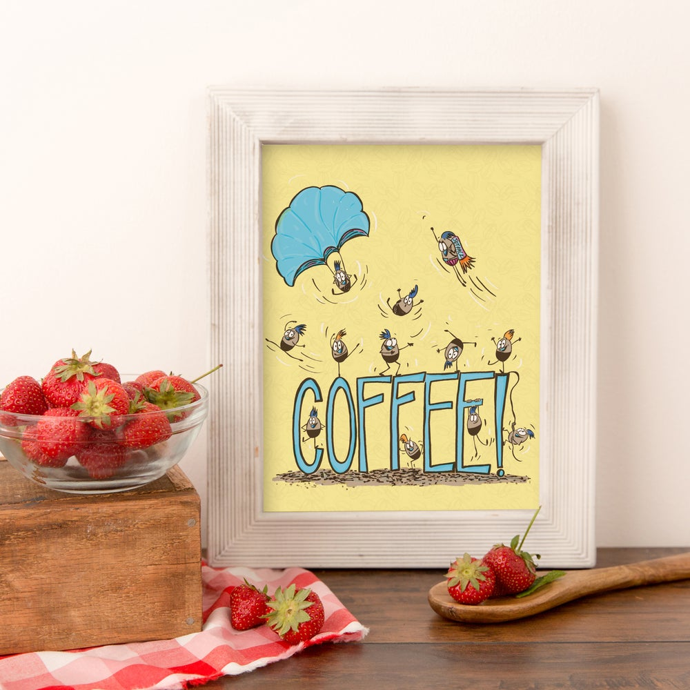 Image of Coffee Art Kitchen Print