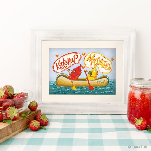 Image of Ketchup and Mustard Kitchen Print