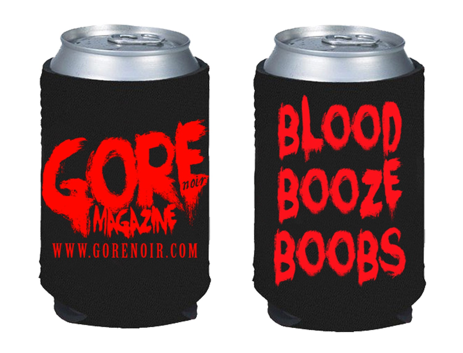 Image of Blood Booze Boobs Koozie (presale)