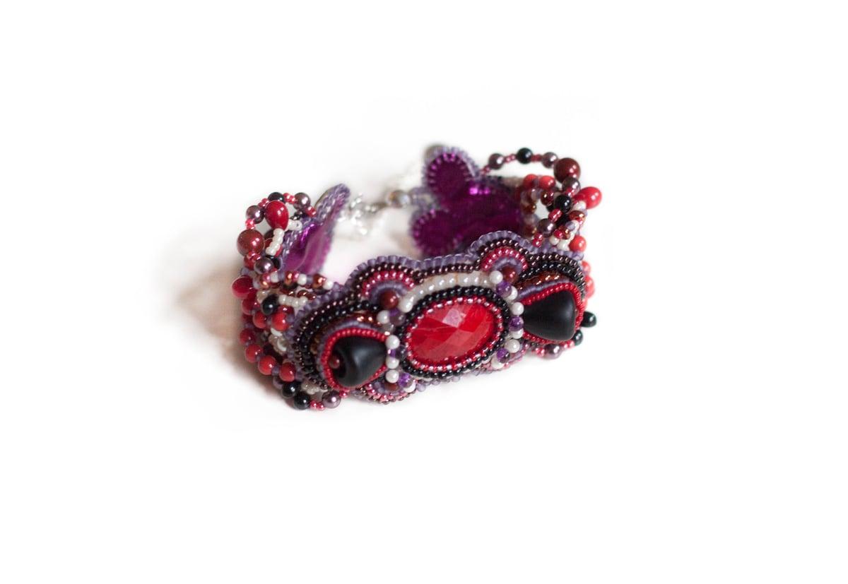 Image of Easy Bracelet - Bouquet d'hier - Bracelet brodé