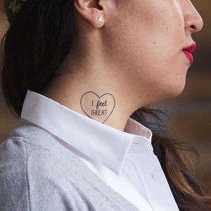 Image of I FEEL GREAT Temporary Tattoo