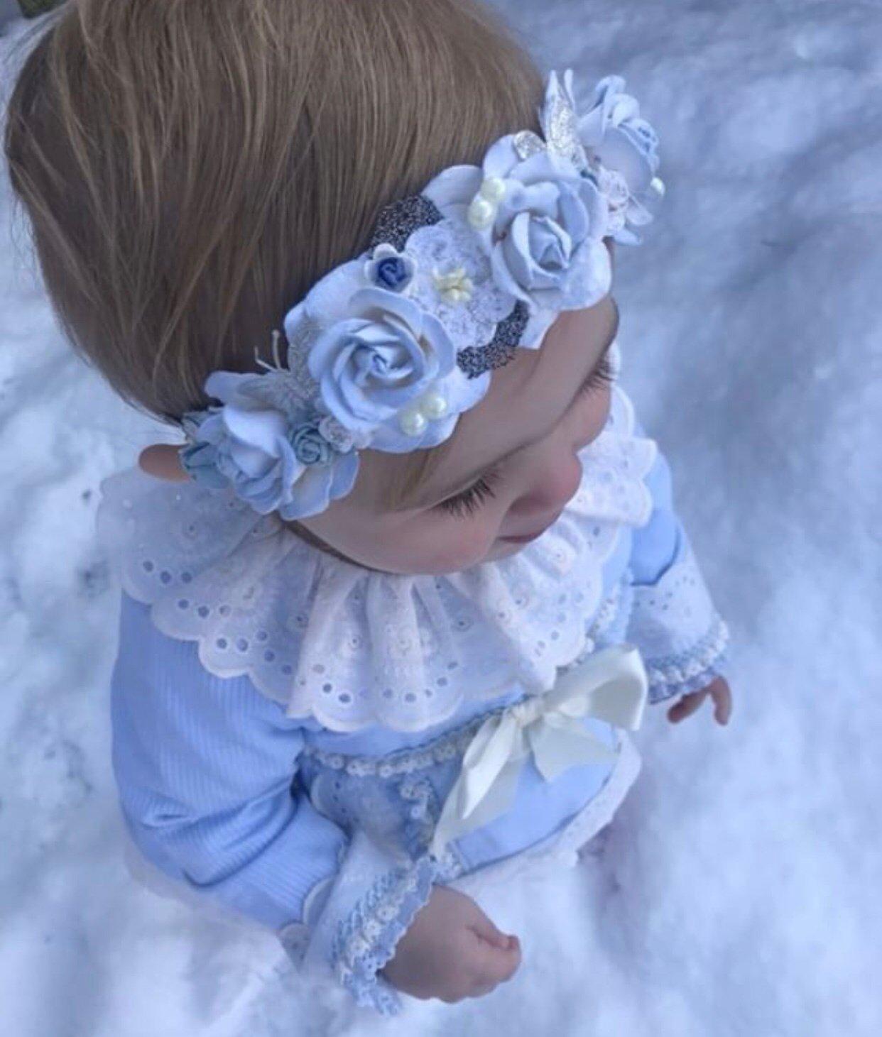 Image of BABY BLUE BASED HEADBANDS
