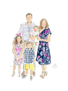 Image of CUSTOM WATERCOLOR PORTRAITS - HOLIDAY ORDERS CLOSED (Orders shipping Feb/March)