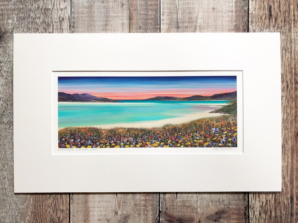 Image of Luskentyre machair small panorama print