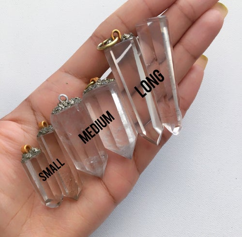 Image of Clear Quartz Pendants • Various Sizes