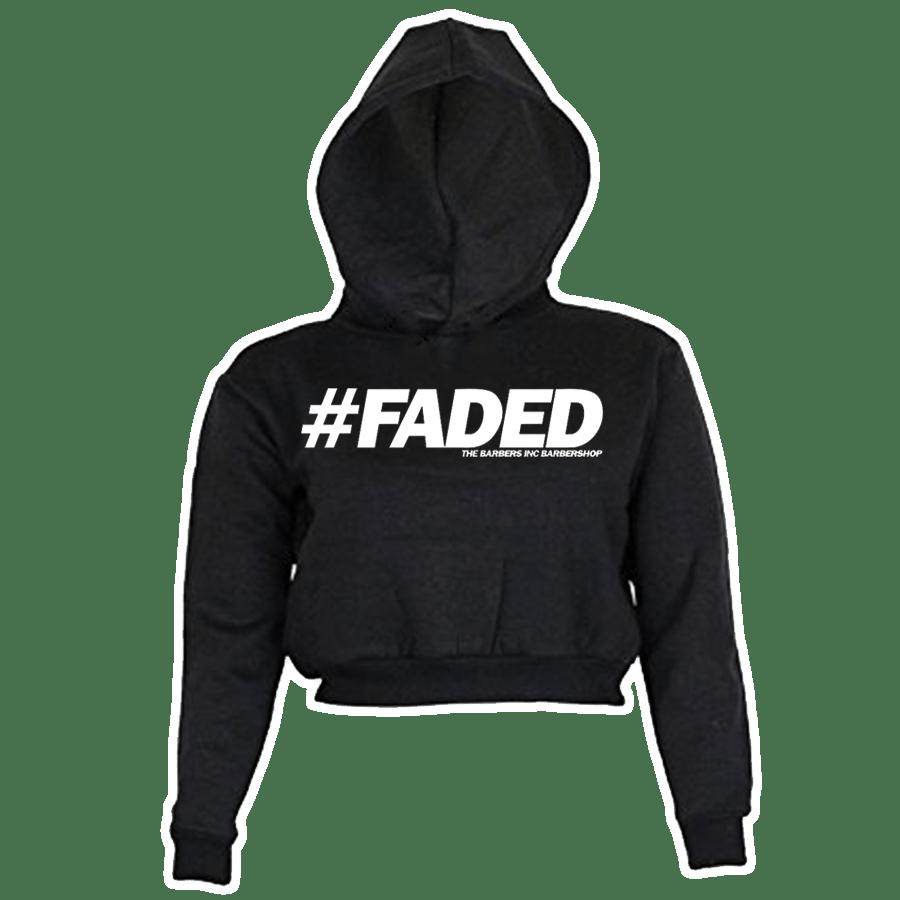 Image of Women's Crop Top Hoodie - #FADED