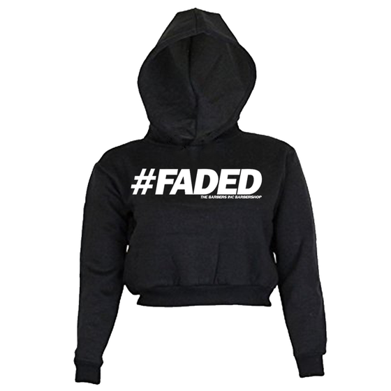 Image of Women's Crop Top Hoodie - #FADED