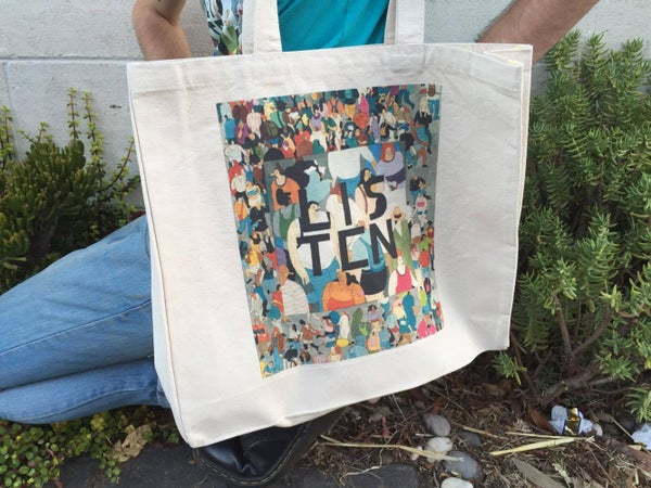 Image of LISTEN Tote Bag - Designed by Tommi PG