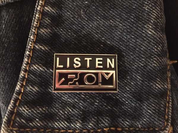 Image of LISTEN Enamel Pin